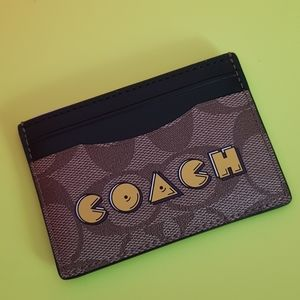 Limited edition Coach & PacMan card holder